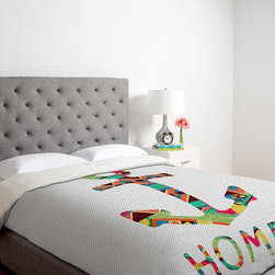 DENY Designs - DENY Designs Bianca Green You Make Me Home Duvet Cover - 13727-DUWKIN - Shop for Duvets from Hayneedle.com! Your home life is what anchors you which is the sentiment displayed with artistic beauty in the DENY Designs Bianca Green You Make Me Home Duvet Cover. This colorful and texturally gorgeous duvet cover is a graphic and unique design element. Sure to make your bedroom 100% more awesome.Duvet Cover Dimensions:Twin: 88L x 68W inchesQueen: 88L x 88W inchesKing: 88L x 104W inchesAbout DENY DesignsDenver Colorado based DENY Designs is a modern home furnishings company that believes in doing things differently. DENY encourages customers to make a personal statement with personal images or by selecting from the extensive gallery. The coolest part is that each purchase gives the super talented artists part of the proceeds. That allows DENY to support art communities all over the world while also spreading the creative love! Each DENY piece is custom created as it's ordered instead of being held in a warehouse. A dye printing process is used to ensure colorfastness and durability that make these true heirloom pieces. From custom furniture pieces to textiles everything they make is unique and distinctively DENY.