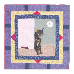 Patch Quilts - Cats Toss Pillow 16 x 16 Inch - Decorative applique Quilted Pillow Bed and Home Ensembles and Bedding items from Patch Magic   - Machine washable  - Line or Flat dry only Patch Quilts - TPCATS
