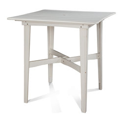 "N/A - 48"" Square Outdoor Bar/Counter Height Table, Plank Top, Bar Height - Finish:"