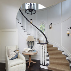 traditional staircase Beach House-Kiawah Island
