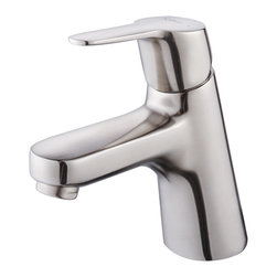 Kraus - Kraus Ferus Single Lever Bas-inch Faucet Brushed Nickel - This single-lever basin faucet is made of solid brass for durability,and it is finished in brushed nickel for elegance. Its Kerox ceramic cartridge keeps it working reliably for years,and its convenient lever controls both temperature and pressure.