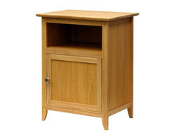 Winsome Wood - Winsome Wood End Table / Night Stand with Natural Finish X-51128 - This wood shaker style nightstand is perfect for any room's decor. Constructed of solid hardwoods, this natural nightstand adds a warm touch to any room. Natural finish goes great with any decor. Easy Assembly.