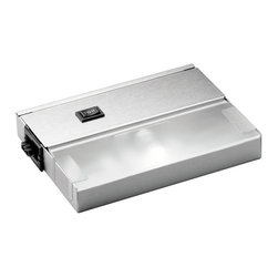 """Kichler - Kichler 1-Light Cabinet Strip/Bar Light - Stainless Steel - One Light Cabinet Strip/Bar Light 1"""" profile x 5"""" w. 120 volt, 20 watt xenon bulb(s). Direct wire or inter-connect ability. Ability to snap fixtures together to create an even flow of light. Durable anodized bronze, brushed stainless steel or powder-coated white finish. High/low/on-off switch. Cul listed. Ul listed nm and bx single cable connector included"""