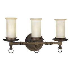 Thomasville Lighting - Thomasville Lighting P2754-102 Santiago 3 Light Bathroom Fixture - Thomasville Lighting P2754-102 Three Light Santiago Bathroom FixtureFeaturing classic twisted wrought iron handiwork and rustic Jasmine Mine glass, this classic fixture will add that hand-crafted look to any locale. One can almost imagine the ringing of a blacksmith's hammer on hot iron when gazing upon this timeless three light bath / vanity bar.With a Forged Black, Roasted Java or Antique Pewter finish, the Santiago collection features Jasmine mist glass.Thomasville Lighting P2754-102 Features: