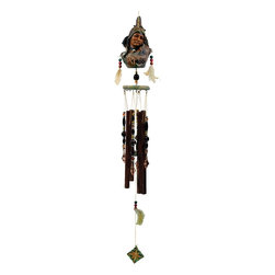Great World - 35 Inch Poly Resin Indian Mother with Child Themed Wind Chime - This gorgeous 35 Inch Poly Resin Indian Mother with Child Themed Wind Chime has the finest details and highest quality you will find anywhere! 35 Inch Poly Resin Indian Mother with Child Themed Wind Chime is truly remarkable.
