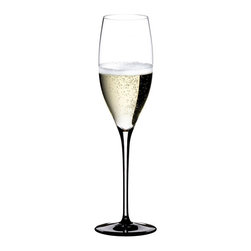 Riedel - Riedel Sommeliers Black Tie Vintage Champagne Glass - The SOMMELIERS BLACK TIE Wine glasses are highlighted by a tall black stem or base and is executed in lead crystal, mouth blown in Austria. One of our most exciting collections. Recommended for: Cava, Champagne, Cuvée Prestige, Prosecco, Rosé Champagne, Sekt, Sparkling wine, Vintage Champagne