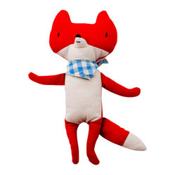 maileg - Fox with scarf - This cute fox has lovely details and is ready to cuddle!