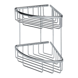 WS Bath Collections - Filo 50032 Shower Basket - Filo by WS Bath Collections Shower Basket Double 7.8 x 7.8 x 11.4 in Polished Chromed