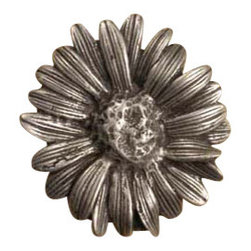 Anne at Home Hardware - Large Daisy Cabinet Hardware - Talk about flower power. This pewter daisy — available as a cabinet knob or a drawer pull — is crafted in the USA to help you customize your kitchen with distinctive style.