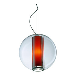 Original BTC - Titan 3 Pendant & Diffuser - Putty - Original BTC - We love the classic industrial look of the Titan Pendant. Designer Peter Bowles used an actual mold from the 1940's that produced these lamps for offices and factories at the time, but then he updated it for a more modern setting. We think it's an ideal choice for a kitchen, dining room, or workspace, since it is mostly downward lighting. But, if brightness isn't your thing, it comes with a frosted glass diffuser to give a softened, glowing light. The lamp is UL listed and suitable for commercial spaces. This lamp is the larger version of the Titan 1. Manufactured in a factory in the UK dedicated to green manufacturing practices.