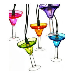 Kurt Adler Indoor/Outdoor String Lights, Margarita Glasses - Raise your glass if you want to party this season with indoor/outdoor margarita string lights. They're bound to bring you a successful fiesta.