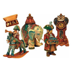 """Nutcracker Ornament Artistic Wood Carved Sculpture - Measures 5""""H x 15.5""""L x 7""""W and weighs 3 lbs. G. DeBrekht fine art traditional, vintage style sculpted figures are delightful and imaginative. Each figurine is artistically hand-painted with detailed scenes including classic Christmas art, winter wonderlands and the true meaning of Christmas, nativity art. In the spirit of giving G.DeBrekht holiday decor makes beautiful collectible Christmas and holiday gifts to share with loved ones. Every G. DeBrekht holiday decoration is an original work of art sure to be cherished as a family tradition and treasured by future generations. Some items may have slight variations of the decoration on the decor due to the hand painted nature of the product. Decorating your home for Christmas is a special time for families. With G. DeBrekht holiday home decor and decorations you can choose your style and create a true holiday gallery of art for your family to enjoy."""