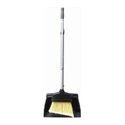 UNGER - LOBBY BRM/DUST PAN C TELESCOPC HNDLS 1 - CAT: Mops, Brooms & Brushes Brooms & Accessories Upright--Natural Fiber