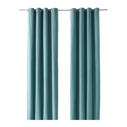Sanela Curtains, Light Turquoise - I think this color blue is so fresh for the living room.