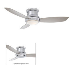 "MinkaAire - MinkaAire Concept II 44 3 Blade 44"" Flushmount Ceiling Fan - Light, Handheld Rem - MinkaAire Concept II 44 Three Blade Ceiling FanFeatures:"
