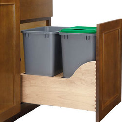 Double Electric Assist Waste Containers -