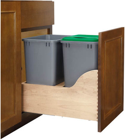 kitchen trash cans by Rev-A-Shelf