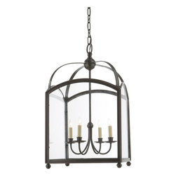 Visual Comfort & Co. - Visual Comfort & Co. CHC3422BZ E.F. Chapman Arch Top 4 Light Flush Mounts - This 4 light Ceiling Lantern from the E.F. Chapman Arch Top collection by Visual Comfort will enhance your home with a perfect mix of form and function. The features include a bronze with wax finish applied by experts. This item qualifies for free shipping!