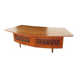 Monteverdi - Young Mid Century Modern Grand Executive Desk - owww.buyfoundobjects.com
