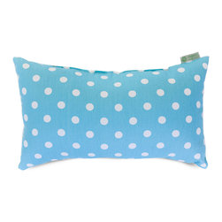 Majestic Home - Indoor Aquamarine Small Polka Dot Small Pillow - Talk about a hot spot! This cotton twill pillow in your choice of colors makes a refreshing change from solids and stripes. Toss it into your favorite casual setting for an instant style upgrade.