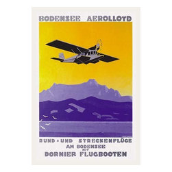 """Buyenlarge.com, Inc. - Bodensee Aerolloyd Flying Boat Tours - Paper Poster 20"""" x 30"""" - The Dornier Delphin II flying boat provided sightseeing around Lake Constance on the Swiss German border."""