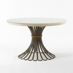 Harvest Table, Marble - Round tables are much more versatile than rectangular ones. You can use one as a dining table, sure, but they are also brilliant in a breakfast nook, filled with books and sculptures in an empty corner or taking center stage in a large entryway.