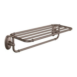 "Moen - Moen CSIYB5494ORB Oil Rubbed Bronze Kingsley 24"" Hotel Shelf from the - Product Features and Specifications:Constructed of Stainless Steel ensuring durability and dependability, while maintaining aesthetic appealCovered under Moen s limited lifetime warrantyTop quality finish - will resist rust and corrosion through everyday useCoordinates seamlessly with other products from the Kingsley Collection by MoenThe Kingsley Collection provides a new way for enthusiasts of traditional style to make their bathrooms stand outCombining a classic antique look with modern functionality, this line of faucets offers the best of both worldsWidth: 24""Overall Width: 26-4/5""Projection (Depth): 10""Height: 6-3/7""Secure mounting assemblyAll hardware required for installation is included"