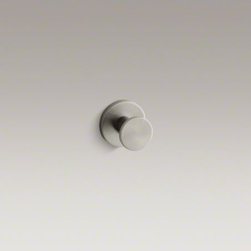 KOHLER - KOHLER Stillness(R) robe hook - Bring clean, quiet lines and streamlined style to your bathroom with Stillness accessories. This solid-brass hook keeps your robe, clothing, or bath towel close at hand.