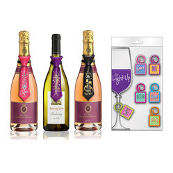 Celebrate Bottle Tie and Charm Set