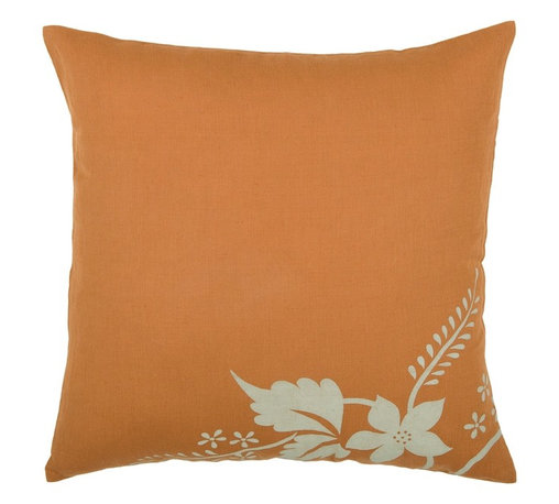 "Orange Khaki 18"" x 18"" Pillow  Set of 2 - *18"" x 18"" Pillow with Hidden Zipper"