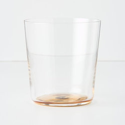Pooled Gold Water Glass - I adore this delicate drinking glass because of the pooled gold at its base. Bottom's up!