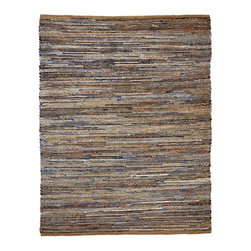 Anji Mountain - Natural Fiber American Graffiti 8'x10' Rectangle Beige-Blue Area Rug - The American Graffiti area rug Collection offers an affordable assortment of Natural Fiber stylings. American Graffiti features a blend of natural Beige-Blue color. Hand Loomed of 60% Recycled Denim  40% Jute the American Graffiti Collection is an intriguing compliment to any decor.