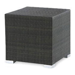 None - King Outdoor Large Cube Side Table - This durable side table is a perfect addition to your outdoor space. An espresso finish highlights this weather-resistant table.
