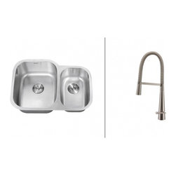 Ruvati - Ruvati RVC2544 Stainless Steel Kitchen Sink and Stainless Steel Faucet Set - Ruvati sink and faucet combos are designed with you in mind. We have packaged one of our premium 16 gauge stainless steel sinks with one of our luxury faucets to give you the perfect combination of form and function.