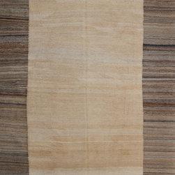 "ALRUG - Handmade Beige/Bone Oriental Kilim  6' 7"" x 10' (ft) - This Afghan Kilim design rug is hand-knotted with Wool on Wool."