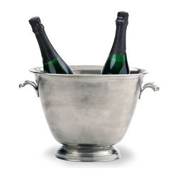 Match Pewter - Match Pewter Double Champagne Bucket - This impressive pewter bar collection from Match pewter wont go unnoticed at your next gathering. A collection handmade in northern Italy, each piece bears a stamped symbol from the region in which it was made.