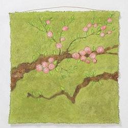 "Aurelie Alvarez - Fleurs Sacrees By Aurelie Alvarez - One of a kindUnframed Acrylic paint, pastel and wax on cotton canvas36"" squareHandmade in France"