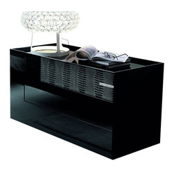 Rossetto - Rossetto Diamond 3 Drawer Dresser in Black - Rossetto - Dressers - T26640N200128 - The dresser does not only add great appeal, but also original design. The three spacious drawers, which are an interesting alternative to the usual linear shapes, and the structure of its top with raised edge that introduces a new opening system.