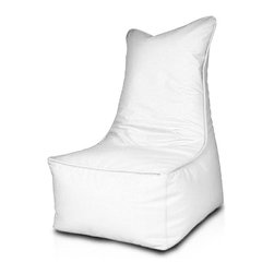 Turbo BeanBags - Beanbag Elegant, White, Filled Bag - Elegant Beanbag his is a very elegant chair that immediately catches the eye and falls for long in the memory.