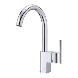 "Danze - Danze D457144 Chrome Como Pull Down Spray Kitchen Faucet From the Como - Product Features:Faucet body and handles feature all-brass constructionFully covered under Danze's limited lifetime faucet warrantyHigh-quality finishing process – finish covered under lifetime warrantyKitchen faucets from Danze are designed to not only function flawlessly, but nourish the eyeSmooth single handle operationPull down spray faucet head with quiet function hose enhances faucet versatility ADA compliant handleLow lead compliant – meeting federal and state guidelines for lead contentAll hardware required for faucet installation is includedProduct Technologies and Benefits:Drip-Free Ceramic Disc Valves: By making these components standard across all of their kitchen faucets, Danze has made leaking and rough operating faucets a thing of the past. These valves provide a lifetime of smooth handle control, and Product Specifications:Overall Height: 14-3/4"" (measured from mounting deck to highest point on faucet)Spout Height: 10"" (measured from mounting deck to spout outlet)Spout Reach: 9"" (measured from center of faucet body to center of spout outlet)Faucet Holes: 1 (number of holes required for faucet installation)Flow Rate: 2.5 gallons-per-minute1 handle included with faucetMaximum Deck Thickness: 2"" (cannot mount on decks thicker without extension kit)Designed for use with standard U.S. plumbing supply bibs"