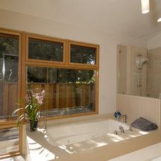 Contemporary Bathroom by square three design studios