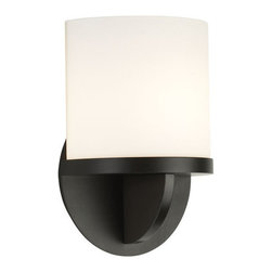 """Sonneman - Sonneman 1720 Ovulo 1 Light Wall Sconce with Etched Glass Shade - Contemporary / Modern Single Light Xenon 8"""" Up Lighting Short Wall Sconce with Etched Glass Shade from the Ovulo CollectionOvulo Single Light Up Lighting 8"""" Short Wall Sconce.Features:"""