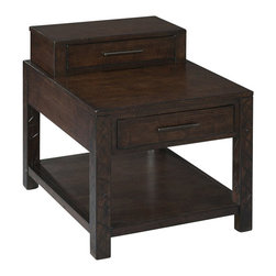 Magnussen - Magnussen Cavelle Wood Rectangular End Table in Chestnut - Magnussen - End Tables - T235703 - About This Product: