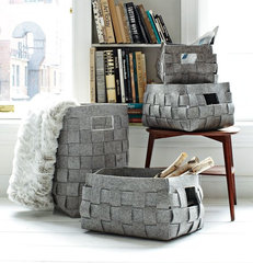 contemporary baskets by West Elm