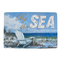 Zeckos - By the Sea Beach Themed Rubberized Comfort Mat 20 x 30 - This wonderful foam rubber comfort mat is great for use in kitchens, laundry rooms, anywhere you spend long periods of time standing up. The mat is 1/8 of an inch thick, thick enough to provide your feet some comfort, but not so thick that you'll be tripping over it. The mat measures 20 inches by 30 inches, and features a beach scene, with the words 'By the Sea' in the top right section. It makes a great gift.
