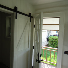 powder room Barn Door for the powder room
