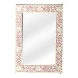 Butler Vivienne Pink Bone Inlay Wall Mirror This Wall