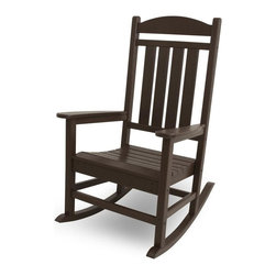 Polywood - 26.25 in. Eco-friendly Presidential Rocker - While your aspirations may never lead you to the Oval Office, you'll feel just as important when relaxing in the stately Polywood Eco-friendly Presidential Rocker.