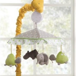 Carter's - Carter's Zoo Animals Musical Mobile - Enchant your little one with this adorable musical mobile. It is decorated with a giraffe head sleeve holding a dot print covered canopy, where adorable zoo animals hang to baby's delight.