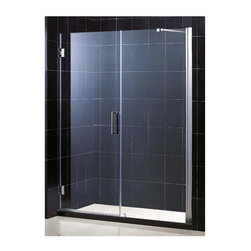 Dreamline - Unidoor Frameless Adjustable Glass Shower Door (25 in. Door Opening in Chrome) - Color: 25 in. Door Opening in Chrome. Includes 30 in. stationary glass panel. Self-closing solid brass wall mounted hinges. Wall profile adjustable upto 1 in.. Reversible glass door for left or right-wall installations. On-site adjustment for out-of-plumb or general door rough opening upto 1 in.. ANSI certified. Made from 0.38 in. thick clear glass and aluminum. 25 in. door opening: 55 - 56 in. W x 72 in. H. 26 in. door opening: 56 - 57 in. W x 72 in. H. 27 in. door opening: 57 - 58 in. W x 72 in. H. Warranty. Installation Manual. Marketing Brochure. 25 in. Technical Drawing. 26 in. Technical Drawing. 27 in. Technical DrawingUnidoor is the only door you will ever need to complete an unforgettable design of your shower project. The smart design of the adjustable wall profile.